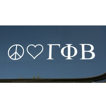 Peace Love Gamma Phi Beta Decal