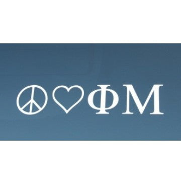 Peace Love Phi Mu Decal