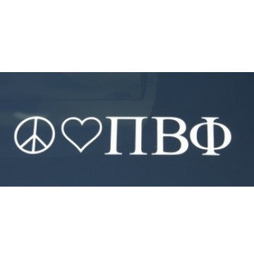 Peace Love Pi Beta Phi Decal