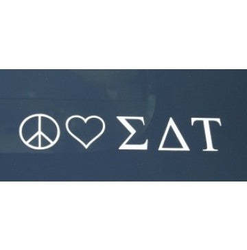 Peace Love Sigma Delta Tau Decal