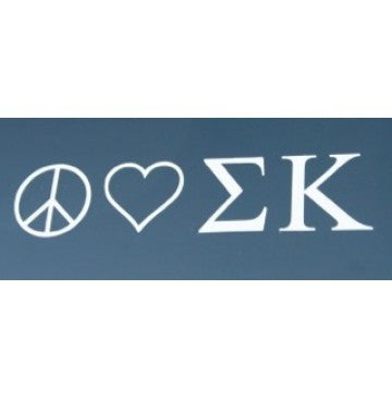 Peace Love Sigma Kappa Decal