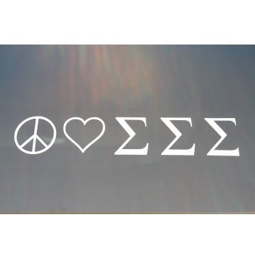 Peace Love Sigma Sigma Sigma Decal