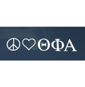 Peace Love Theta Phi Alpha Decal
