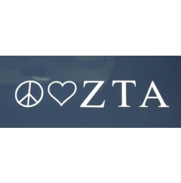 Peace Love Zeta Tau Alpha Decal