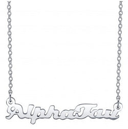 Alpha Sigma Tau Silver Script Necklace