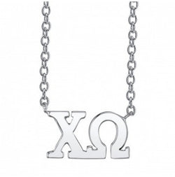 Chi Omega Sterling Silver Letter Necklace