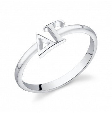 Delta Gamma Sterling Silver Letter Ring