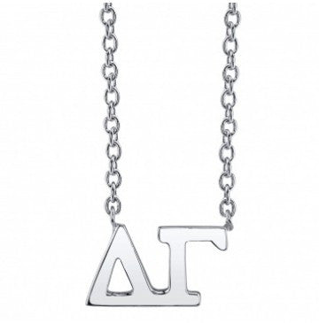 Delta Gamma Sterling Silver Letter Necklace