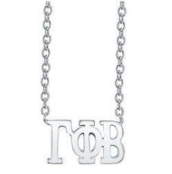 Gamma Phi Beta Sterling Silver Letter Necklace