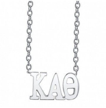 Kappa Alpha Theta Sterling Silver Letter Necklace