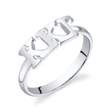 Kappa Kappa Gamma Sterling Silver Letter Ring