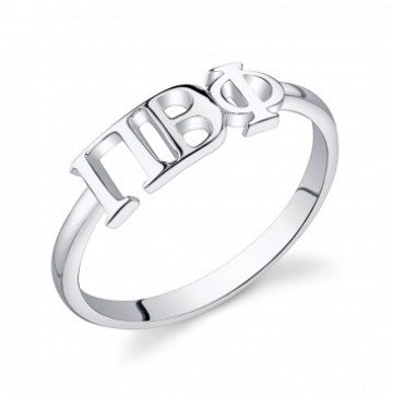 Pi Beta Phi Sterling Silver Letter Ring