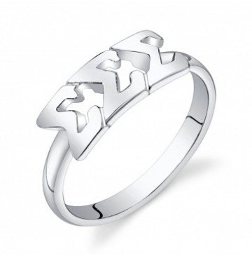 Sigma Sigma Sigma Sterling Silver Letter Ring