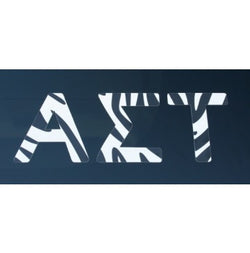 Alpha Sigma Tau Zebra Print Decal