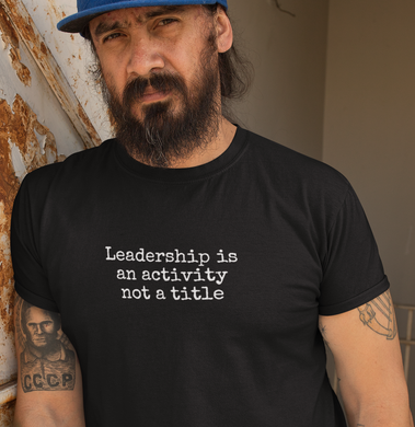 Leadership is an activity, not a title- Men's Crew Neck AS Colour Organic Tee