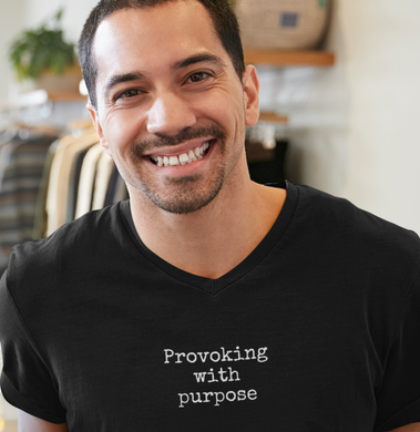 Provoking with purpose- Men's V neck