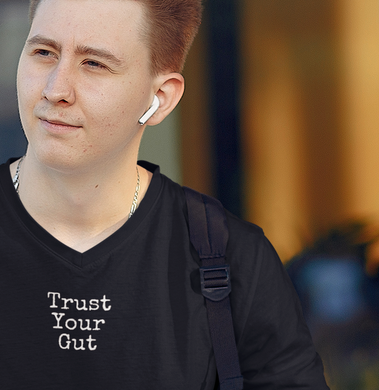 Trust Your Gut - Mens V-Neck Tee