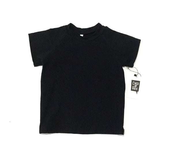 Straight Cut Raglan Black Tee