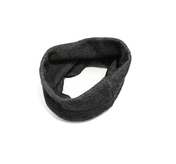 Heather Black Bamboo Infinity Scarf