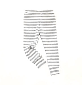 Organic Cotton Light Grey and White Stripe Lounge Pant