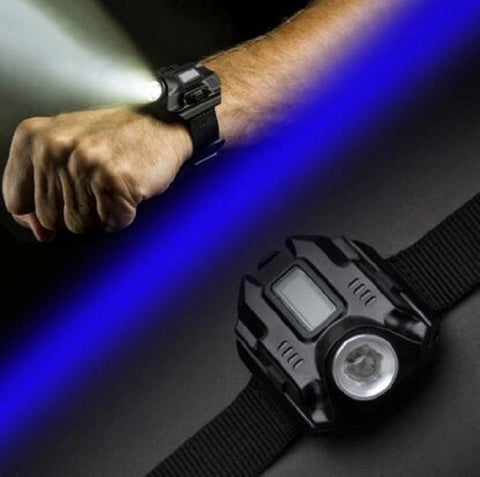 LED Wrist Watch Flashlight Torch Light