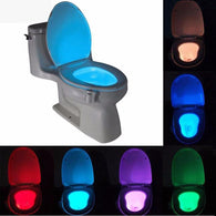 8 Color LED Motion Detecting Toilet Illuminator/Nightlight