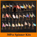 30 Piece Spinner Bait Fishing Lure Set