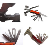 Multi-function Outdoor Survival Folding Camping Tool Set