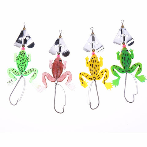FREE: 4pc Frog Spinner Lure Set