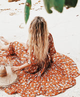 Flower Prints Maxi Dress