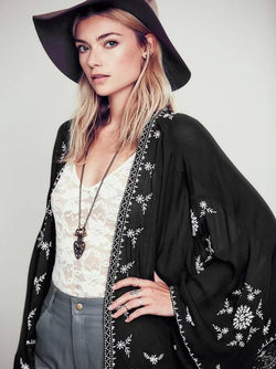 Embroidery Loose Cardigan