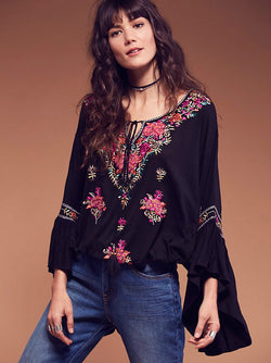 Embroidery Tassels Blouse