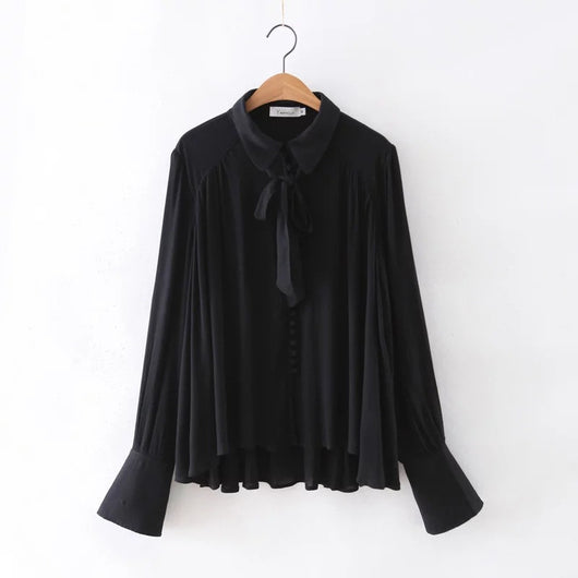 Regular Loose Ruffles Shirt