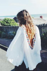 Backless Embroidery  Beach Dress
