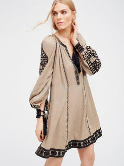 Bell Sleeves Peasant Dress