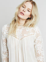 Pleats and Lace Top