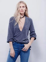 Casual Cross Blouse