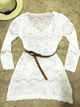 Lace Style Beach Dress (w/ Free Belt)