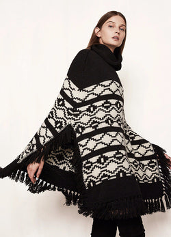 Geometric Turtleneck Cloak