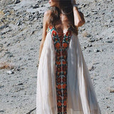 Bohemian Backless Holiday Dress