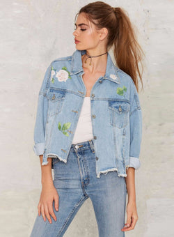 Floral Drop Shoulder Jacket