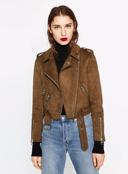 Brown Suede Velvet Coat