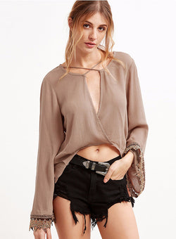 Criss-Cross Strap Blouse