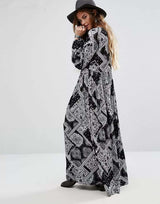 Handkerchief Print Maxi Dress