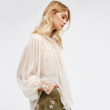 Sequined Ruffles Blouse