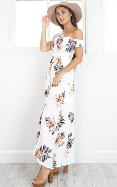 FLORAL DAZE DRESS IN WHITE FLORAL