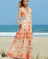 V-Neck Chiffon Vacation Dress