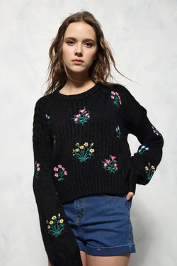 Flower Cashmere Sweater