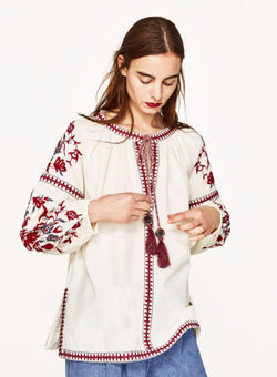 Embroidery Tassels Top