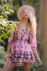 Bohemian Pleated Holiday Beach Dress